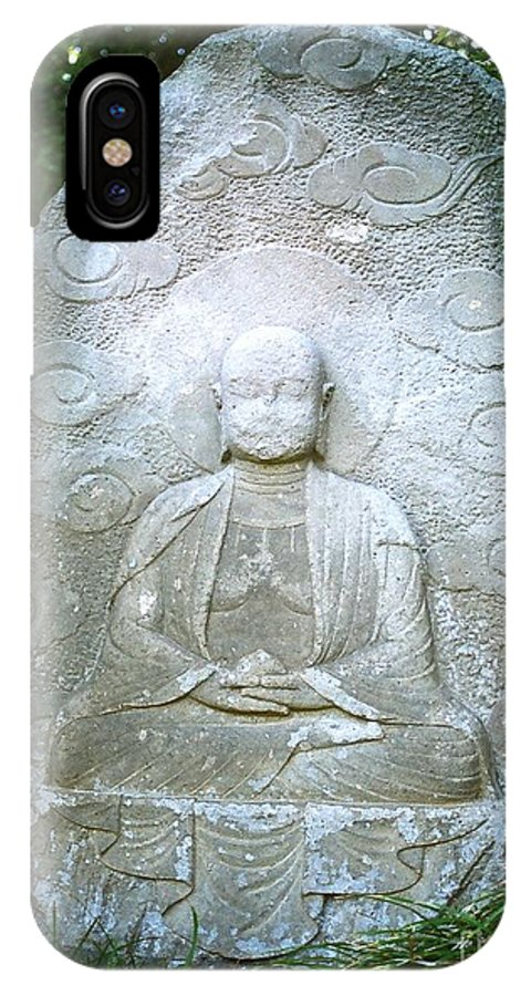Stone IPhone X Case featuring the photograph Stone Buddha by Dean Triolo