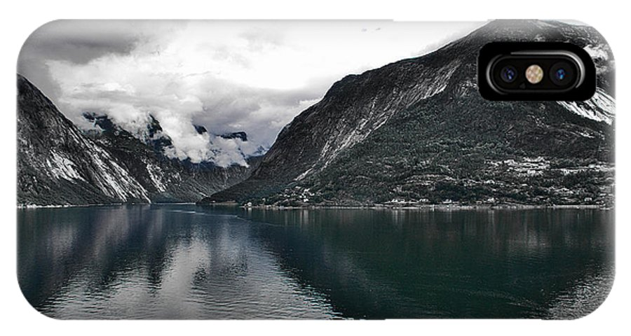 Fiord IPhone X Case featuring the photograph Storm In The Fiord by David Resnikoff