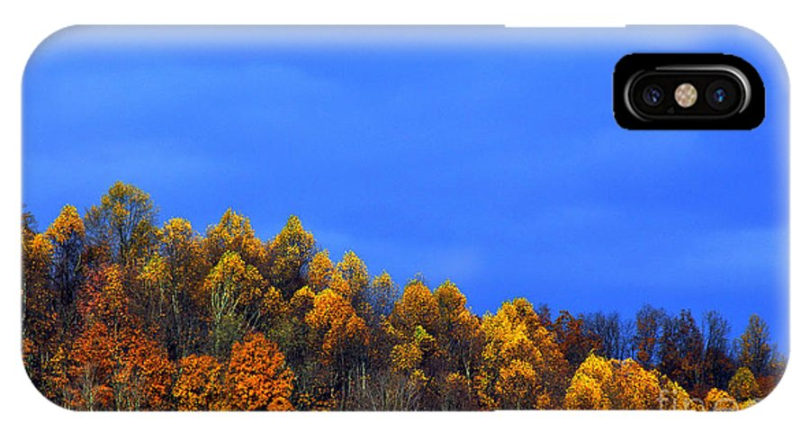 Autumn IPhone X / XS Case featuring the photograph Stormy Sky Last Fall Color by Thomas R Fletcher