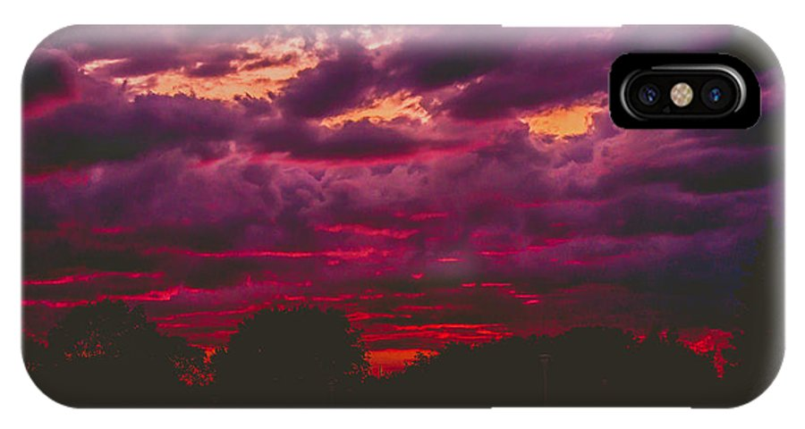Summer IPhone X Case featuring the photograph Stormy Sunset by Kristin Hunt