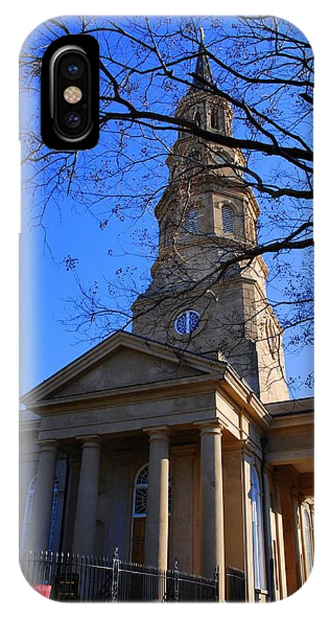 Photography IPhone X Case featuring the photograph St.philips Episcopal Church In Charleston Sc by Susanne Van Hulst