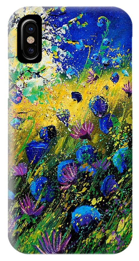 Poppies IPhone X Case featuring the painting Summer 450208 by Pol Ledent