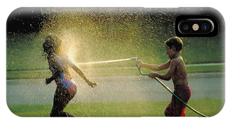 Hose IPhone X Case featuring the photograph Summer Fun by Carl Purcell