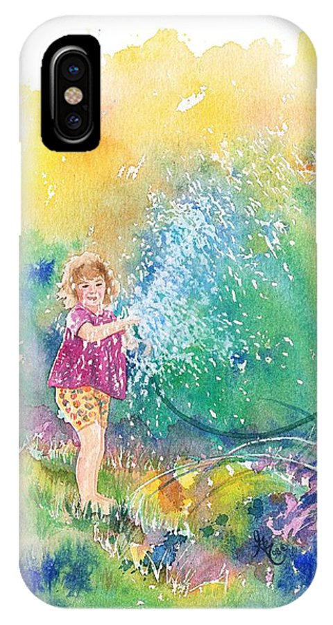 Children IPhone Case featuring the painting Summer Fun by Gale Cochran-Smith