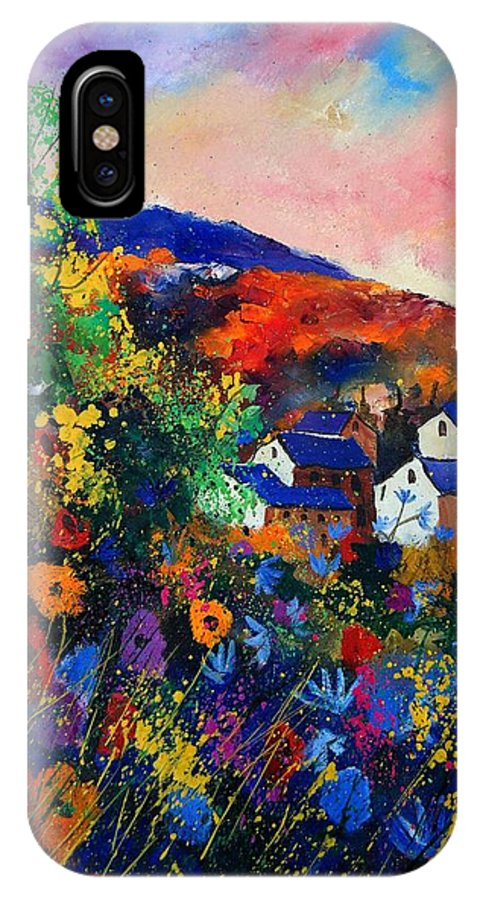Landscape IPhone X Case featuring the painting Summer by Pol Ledent