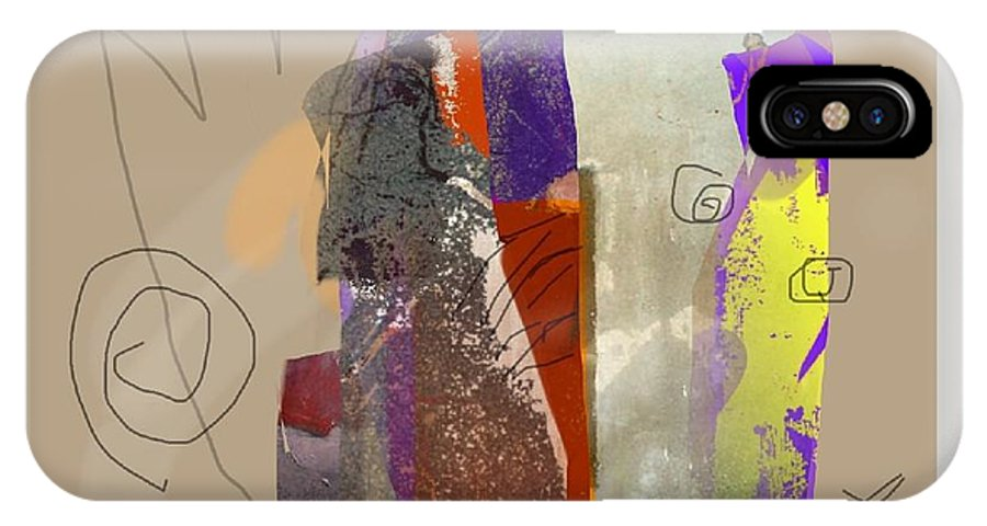 Mixed Media IPhone X Case featuring the mixed media Summer Slumber 2 by Janis Kirstein