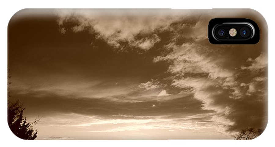 Sunset IPhone Case featuring the photograph Sunset And Clouds by Rob Hans