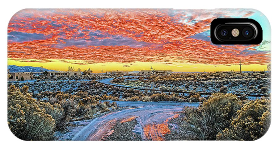 Sunset IPhone X Case featuring the photograph Sunset In El Prado by Charles Muhle