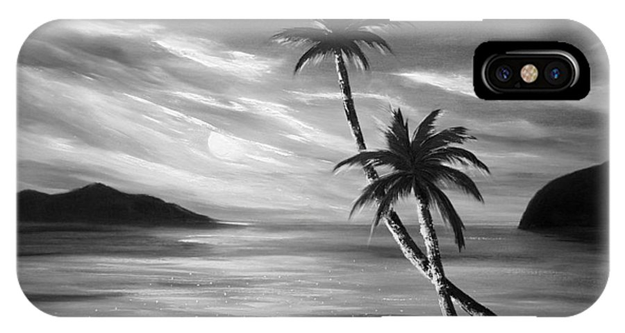 Sunset IPhone Case featuring the painting Sunset In Paradise by Gina De Gorna