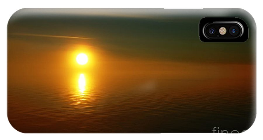 Sunset IPhone X Case featuring the photograph Sunset... by Nina Stavlund