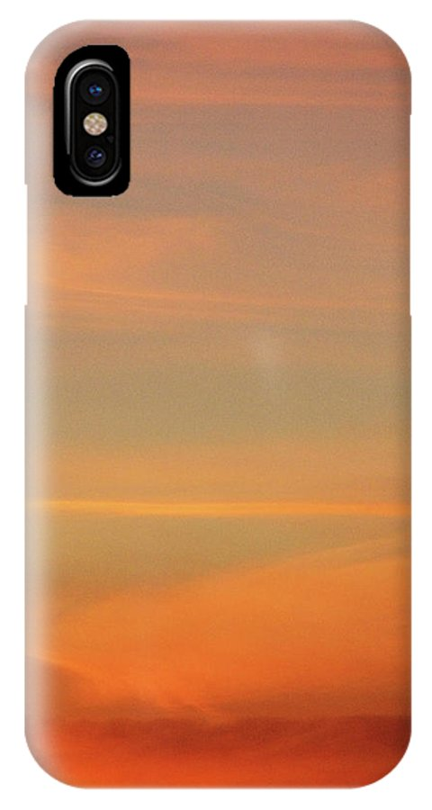 Blue IPhone X Case featuring the photograph Sunset Off Of Kings Hwy by Teri Schuster