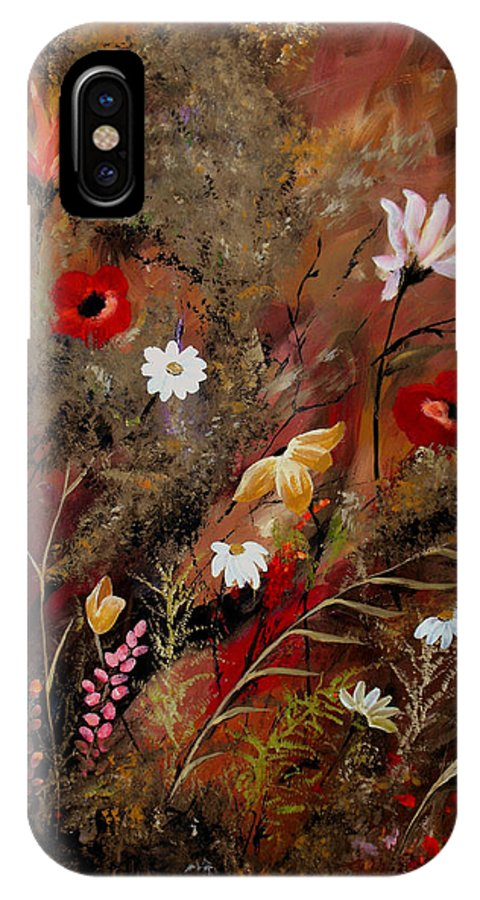 Abstract IPhone X Case featuring the painting Sweet Inspiration by Ruth Palmer