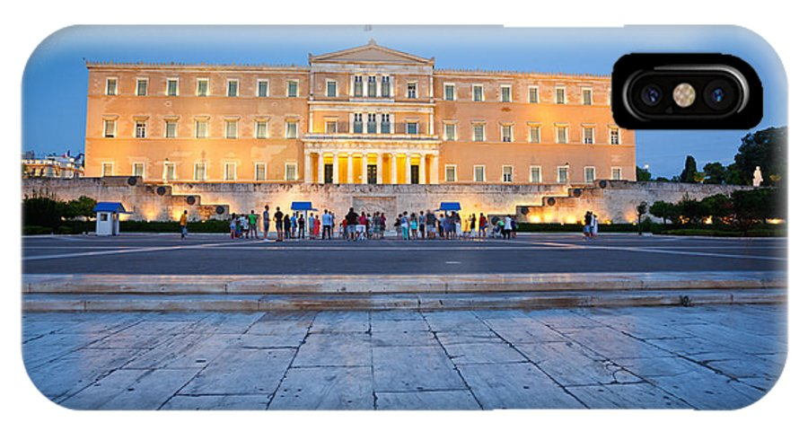 Syntagma IPhone X / XS Case featuring the photograph syntagma 'II by Milan Gonda