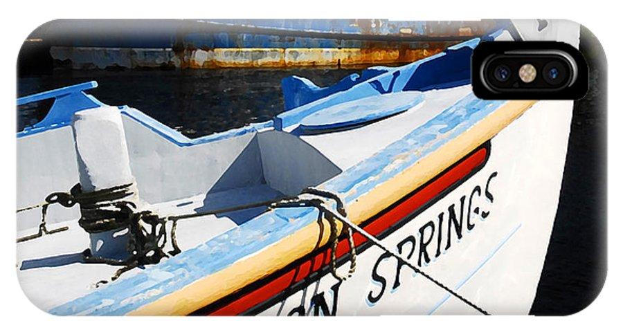 Tarpon Springs Florida IPhone X Case featuring the painting Tarpon Springs by David Lee Thompson