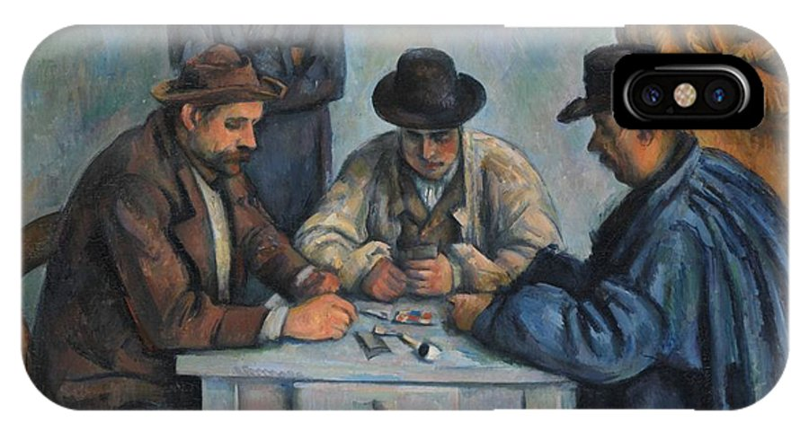 Paul Czanne The Card Players IPhone X Case featuring the painting The Card Players by Paul Czanne