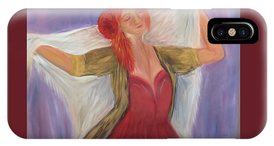 Dance IPhone Case featuring the painting The Dancer by Taly Bar