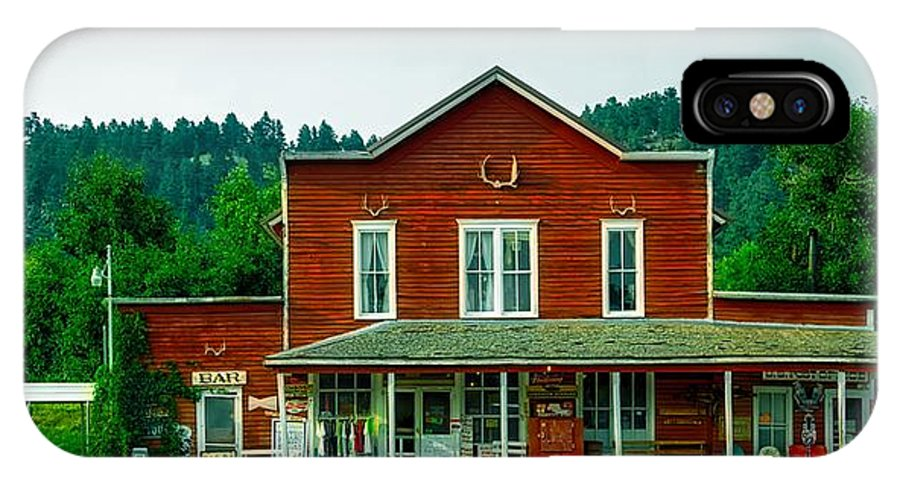 General Store IPhone X Case featuring the photograph The General Store by Mountain Dreams
