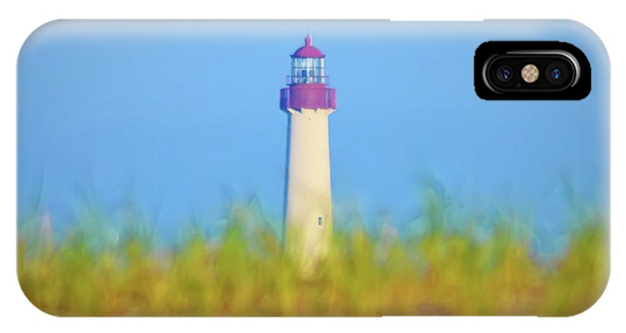 Lighthouse IPhone X Case featuring the photograph The Lighthouse At Cape May by Bill Cannon
