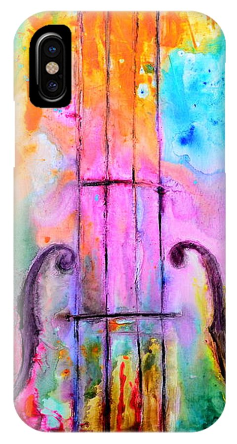 Music IPhone X Case featuring the mixed media The Loveliest by Ivan Guaderrama