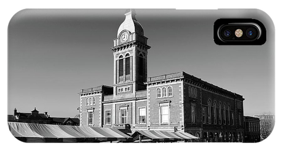 Market IPhone X Case featuring the photograph The Market Hall, Market Square, Chesterfield Town, Derbyshire by Dave Porter