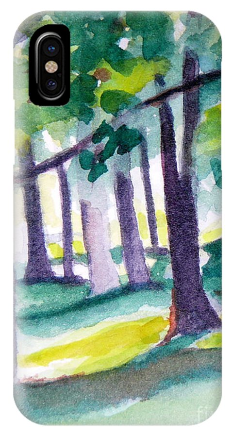 Nature IPhone X Case featuring the painting The Perfect Day by Jan Bennicoff