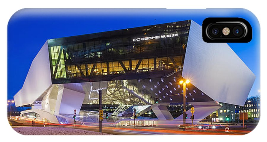 City IPhone X Case featuring the photograph The Porsche Museum by Werner Dieterich