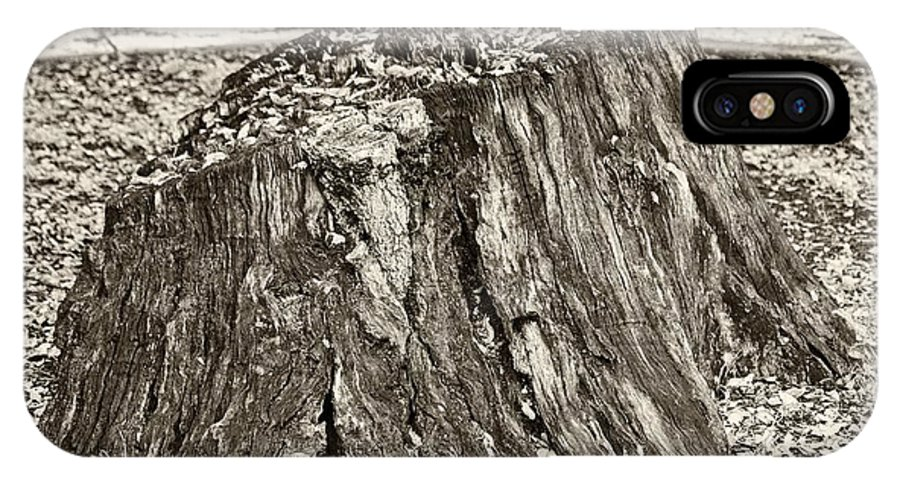 Stump IPhone X Case featuring the photograph The Remains by Gary Richards