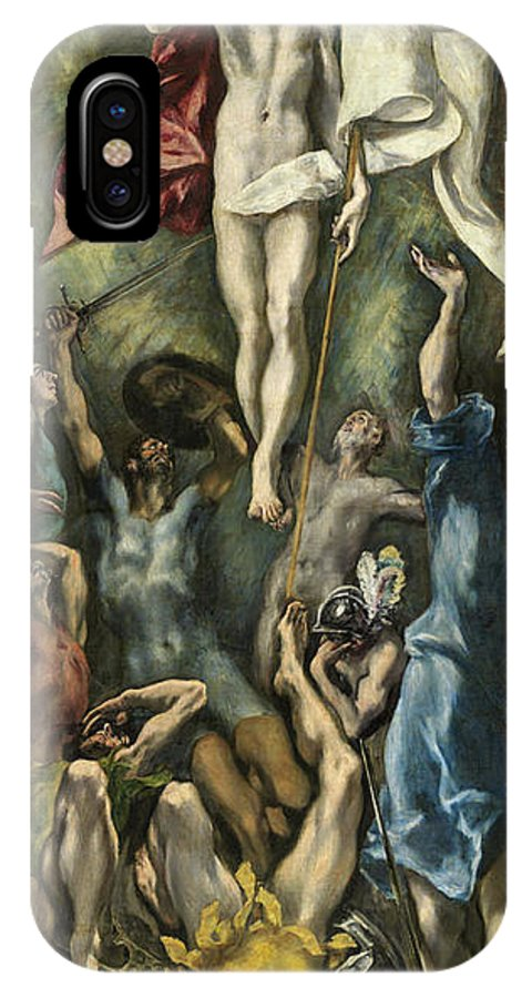 Christ IPhone X Case featuring the painting The Resurrection by El Greco