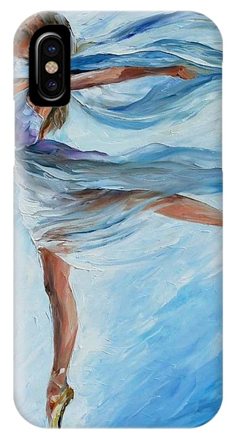 Afremov IPhone X Case featuring the painting The Sky Dance by Leonid Afremov