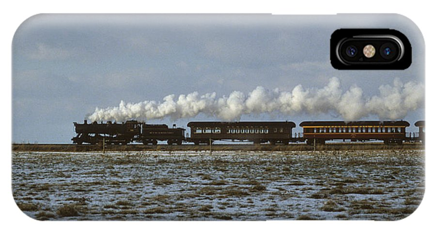 Steam Engine IPhone X Case featuring the photograph The Train To Nowhere by Carl Purcell