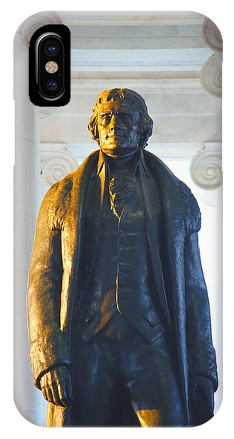 Jefferson Memorial IPhone X Case featuring the photograph Thomas Jefferson by Mitch Cat