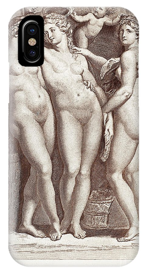 Ancient IPhone X Case featuring the photograph Three Graces by Granger