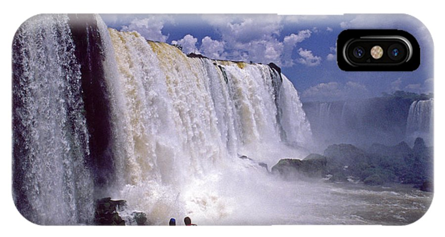 South America IPhone X Case featuring the photograph Thundering Water by Michele Burgess