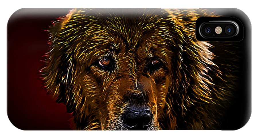 The Tibetan Mastiffs Exist On The Earth Not Less Than Five Millennia. As It Is Easy To Guess IPhone X Case featuring the mixed media Tibetan Mastiff by Denis Bajan