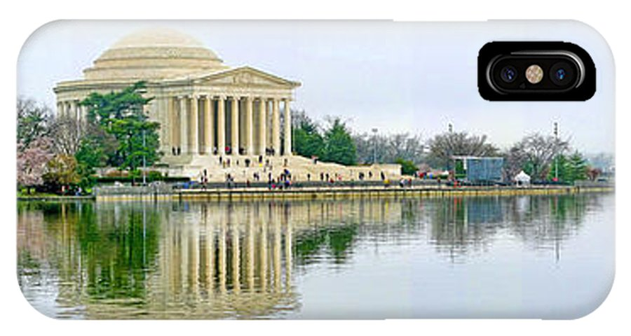 Tidal Basin IPhone X Case featuring the photograph Tidal Basin With Cherry Blossoms by Jack Schultz