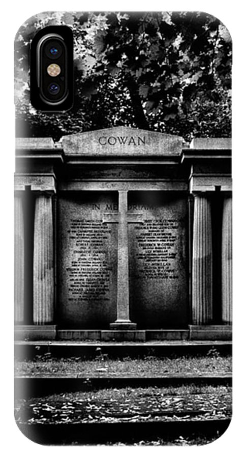 Lovetoronto IPhone X Case featuring the photograph Tombstone Shadow.  An Ongoing by Brian Carson