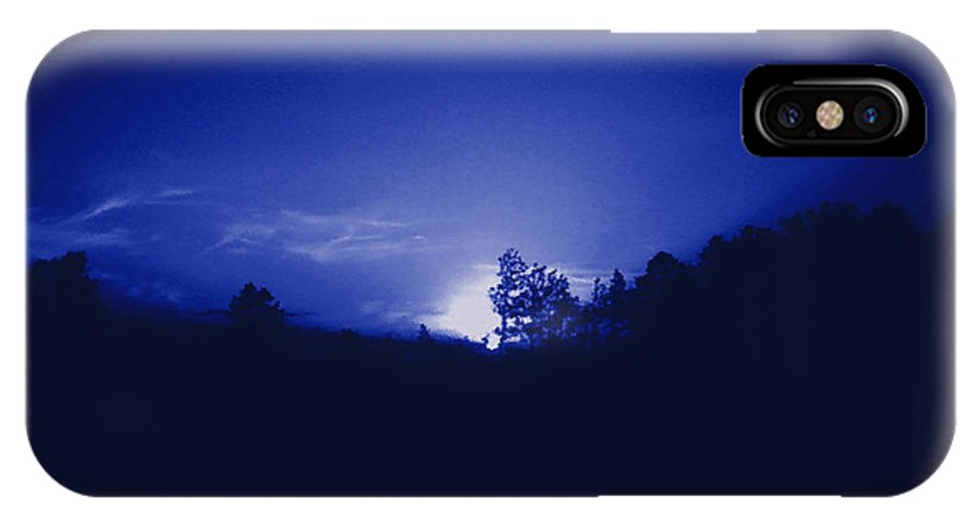 Sky IPhone X Case featuring the photograph Where The Smurfs Live 2 by Max Mullins