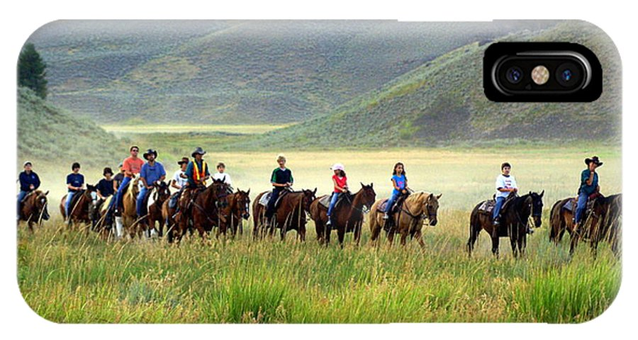Trail Ride IPhone X Case featuring the photograph Trail Ride by Marty Koch