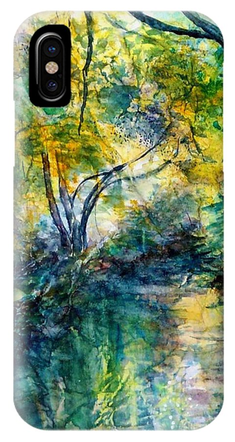 Water Scene IPhone X / XS Case featuring the painting Tranquility by Norma Boeckler