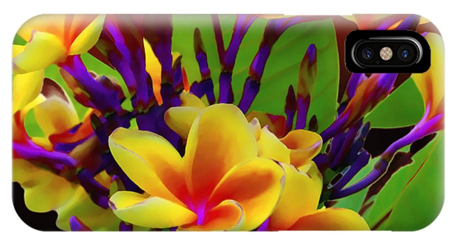 Flower IPhone X Case featuring the photograph Tropical Warmth by Stephen Anderson