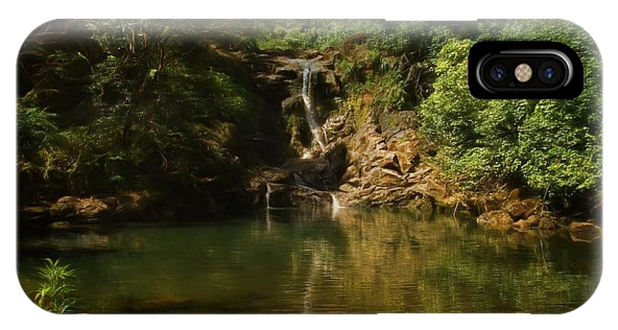 Twin Falls IPhone X Case featuring the photograph Twin Falls Pool by Byron Fair