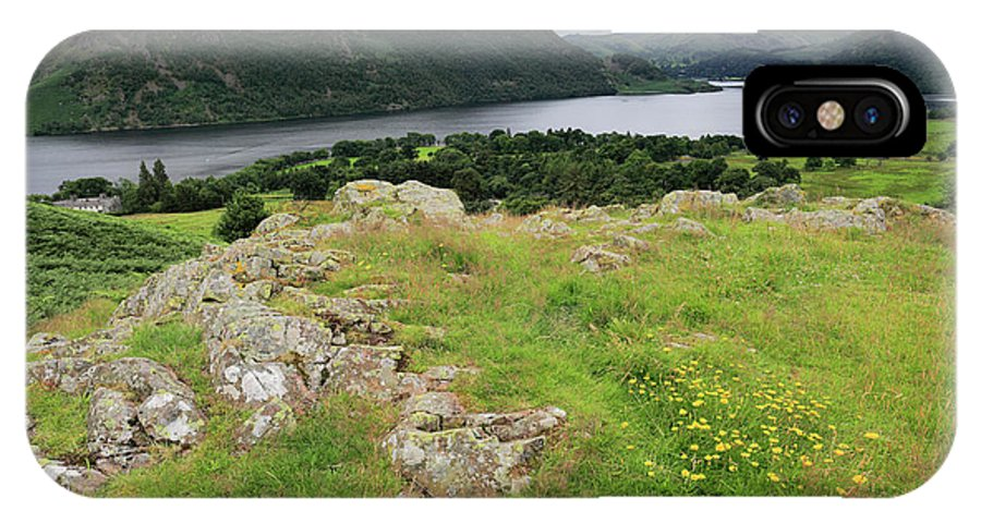 Gowbarrow Fell IPhone X Case featuring the photograph Ullswater Lake From Gowbarrow Fell, Lake District by Dave Porter