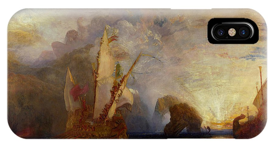 Boat IPhone X Case featuring the painting Ulysses Deriding Polyphemus by JMW Turner