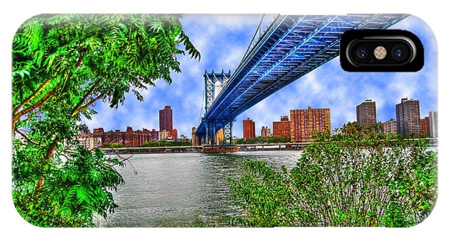 Manhattan Bridge IPhone X Case featuring the photograph Under The Bridge by Randy Aveille