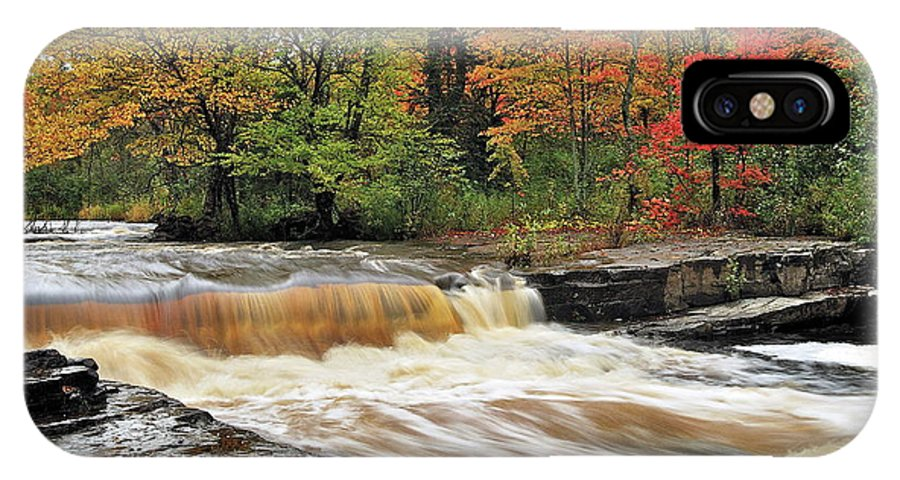 Michigan IPhone X Case featuring the photograph Unnamed Falls by Michael Peychich