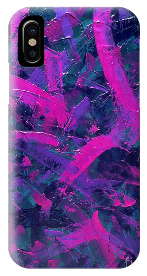 Abstract IPhone X Case featuring the painting Untitled by Dean Triolo
