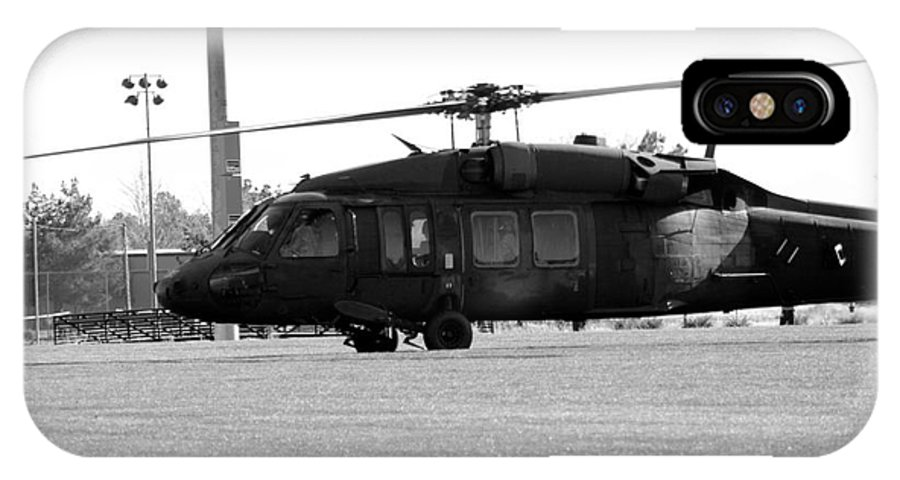 Us IPhone X Case featuring the photograph Us Army Blackhawks by Brenton Woodruff