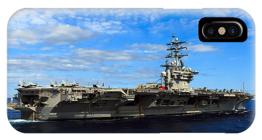 Ike IPhone X Case featuring the photograph Uss Dwight D. Eisenhower by Travis Rogers