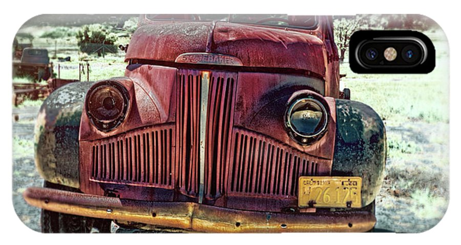 Motor Transport Museum IPhone X Case featuring the photograph Vintage Studebaker Truck by Claude LeTien