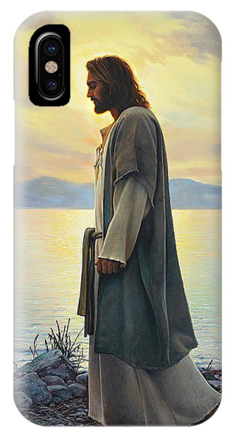 Jesus IPhone X Case featuring the painting Walk with Me by Greg Olsen